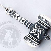 hammer of svarog silver pendant hammer pendant slavic jewelry svarog's hammer pendant