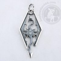 skyrim dragon silver pendant skyrim pendant dragon pendant dragon skyrim pendant skyrim dragon pendant skyrim jewelry dragon jewelry