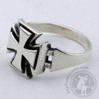 iron cross silver ring custom size iron cross ring iron cross jewelry templar cross ring templar jewelry iron cross