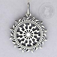 black sun in sunlights silver pendant black sun shines pendant blacksun jewelry norse jewelry slavic jewelry ancient norse pendant