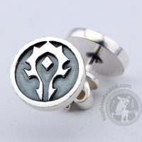 horde earrings for the horde stud earrings horde silver earrings horde wow jewelry