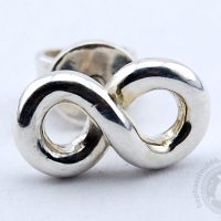infinity earrings infinitude earrings perpetuity infinity symbol infinity stud earrings