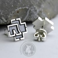 rammstein earrings stud earrings rammstein jewelry rammstein silver rammstein merch rammstein silve earrings rammstein logo earrings rammstein silver jewelry