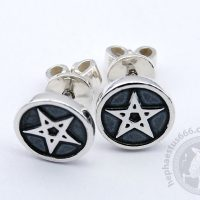pentagram earrings stud earrings pentagram silver earrings 5 point star earrings