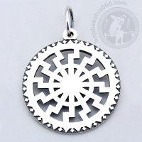 black sun silver pendant black sun pendant slavic jewelry norse jewelry vikings pendant blacksun pendant norse pendant