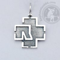 rammstein pendant rammstein jewelry rammstein merch rammstein silver pendant rammstein logo pendant rammstein cross pendant rt logo pendant
