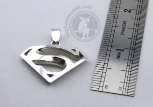 superman pendant superman jewelry superman silver pendant superman