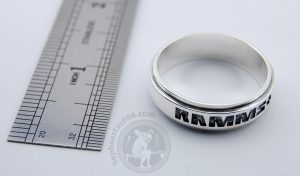 rammstein 925 silver ring rammstein ring rammstein merch rammstein jewelry rammstein official rammstein
