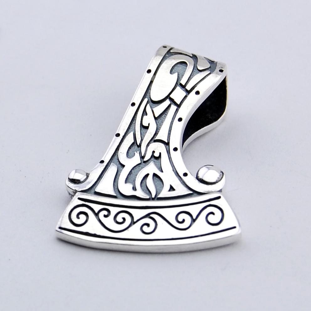 axe of perun silver pendant