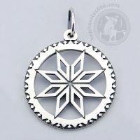 alatyr silver pendant alatyr pendant alatyr jewelry slavic jewelry norse jewelry pagan jewelry 8 point star ancient jewelry ancient symbol alatyr ancient pendant