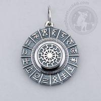 black sun in svarog's circle silver pendant black sun pendant slavic jewelry norse pendant ancient norse symbol pendant