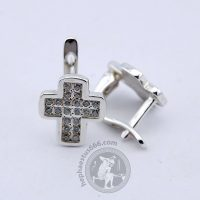 cross earrings cross clip earrings cross silver earrings cross earrings with gems cross jewelry christian earrings christian jewelry christian cross