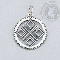 makosh silver pendant makosh pendant slavic makosh symbol slavic geometry ancient slavic symbol pagan jewelry pagan geometry pendant