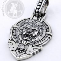 Lion with crown silver pendant lion pendant crown pendant king pendant king jewelry royal jewelry lion king pendant kings jewelry