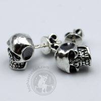 skull earrings skull stud earrings skull jewelry biker earrings biker jewelry