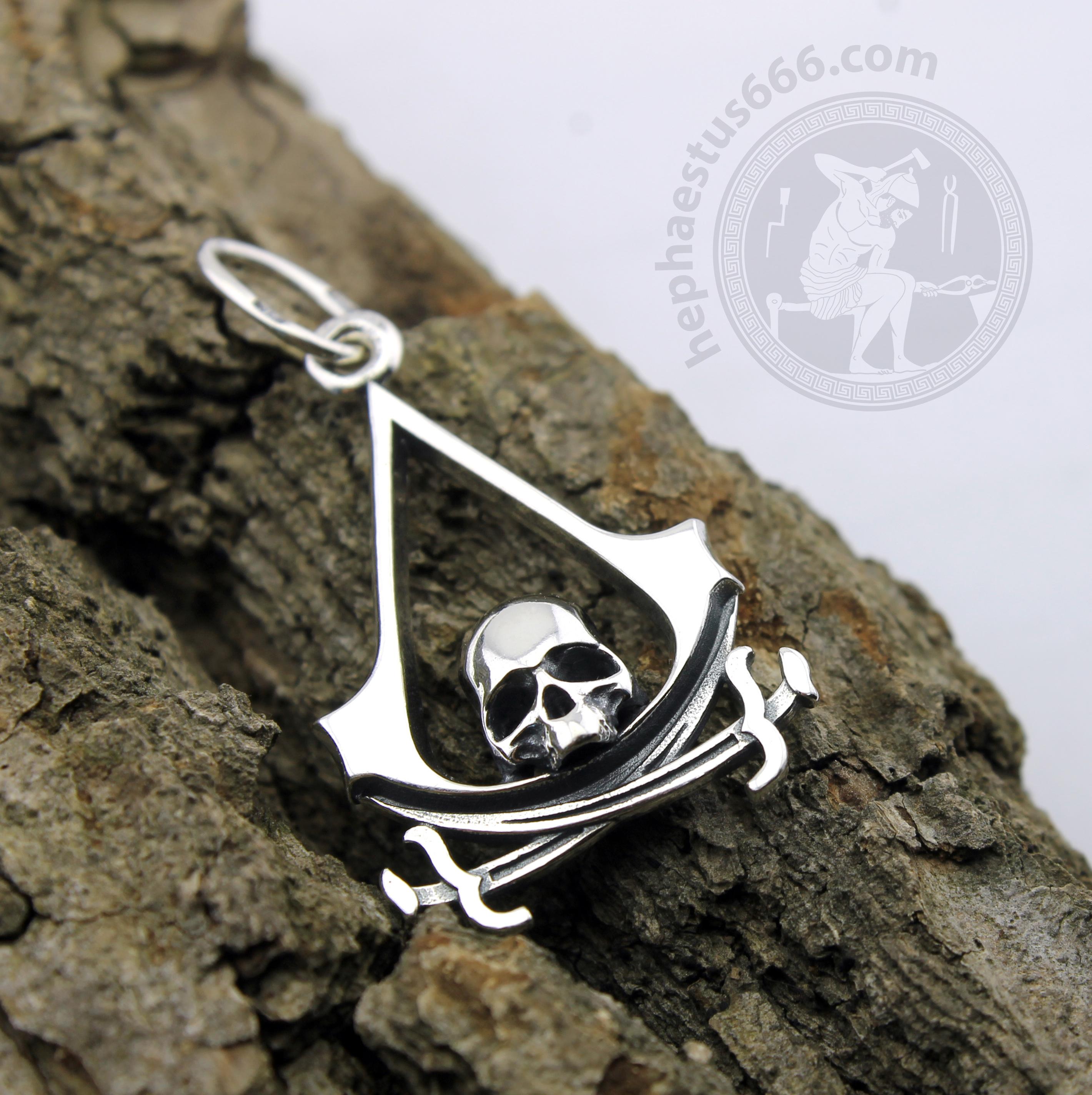 Assassin S Creed Black Flag Skull Pendant Hephaestus665