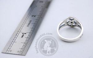 pentagram rin pentagram silver ring pentagram jewelry occult ring occult jewelry pentagram