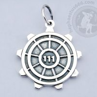 vault 111 from fallout silver pendant vault 111 pendant hatch pendant fallout pendant fallout jewelry vault 111 hatch