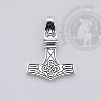 Mjolnir thor's hammer silver pendant with cross celtic knot mjolnir pendant norse jewelry celtic jewelry cross knot pendant cross knot mjolnir