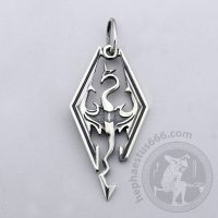 dragon skyrim silver pendant skyrim dragon pendant skyrim jewelry dragon pendant from skyrim the elder scrolls jewelry