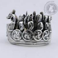 drakkar silver ring drakkar ring viking jewelry viking ship ring drakkar jewelry norse ring