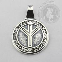 rune algiz silver pendant algiz futhark pendant elder futhark algiz pendant futhark jewelry futhark algiz pendant algiz rune pendant