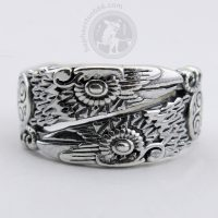 odin's ravens silver ring odin ravens ring odin's ravens ring Huginn and Muninn ring crown ring odin crowns ring odin's crowns ring norse ring norse jewelry