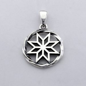Alatyr pendant slavic symbol alatyr norse necklace vikings pendant 8 point star octagram pendant sacred jewelry slavic jewelry norse jewelry vikings jewelry