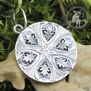 oak leaf pendant seed of life with oak leafs perun's symbol perun pendant seed of life perun